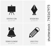 set of 4 editable school icons. ...
