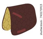 Horse Blanket Icon. Isometric...
