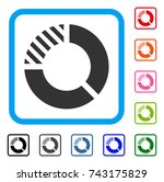 pie chart icon. flat grey...
