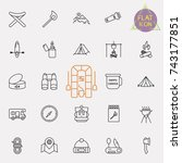 outline web icon set   summer... | Shutterstock .eps vector #743177851