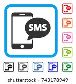 send phone sms icon. flat grey...