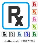 rx symbol icon. flat grey...