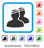 patients icon. flat gray iconic ... | Shutterstock .eps vector #743179831
