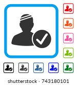 patient valid icon. flat gray...