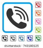 phone ring icon. flat gray... | Shutterstock .eps vector #743180125