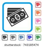 money icon. flat gray pictogram ...