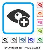 vision medical cross icon flat