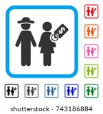 marriage of convenience icon.... | Shutterstock .eps vector #743186884