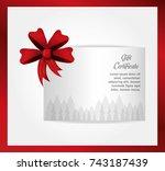 gift certificate design | Shutterstock .eps vector #743187439