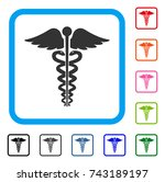medical caduceus emblem icon.... | Shutterstock .eps vector #743189197