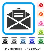 mail icon. flat gray pictogram...