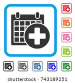 medical appointment icon. flat... | Shutterstock .eps vector #743189251