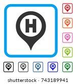 hospital letter marker icon....   Shutterstock .eps vector #743189941
