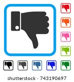 fail thumb down icon. flat grey ...