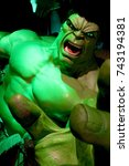 Small photo of LAS VEGAS, NEVADA US - Oct 09, 2017: Hulk giant model, Madame Tussauds museum in Las Vegas.