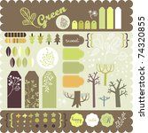 sticker collection of trees for ... | Shutterstock .eps vector #74320855