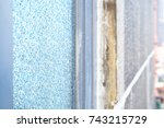 abstract background of glass... | Shutterstock . vector #743215729