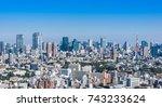 scenic view of tokyo metropolis ... | Shutterstock . vector #743233624