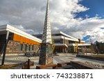 canmore  alberta  canada  ... | Shutterstock . vector #743238871