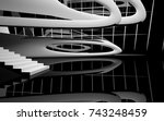abstract dynamic interior with... | Shutterstock . vector #743248459