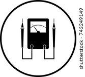 analog multimeter symbol   Shutterstock .eps vector #743249149