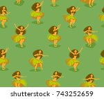 seamless pattern with beautiful ... | Shutterstock .eps vector #743252659