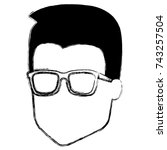 young man head avatar character | Shutterstock .eps vector #743257504