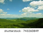 amazing panoramic view. | Shutterstock . vector #743260849