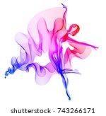 abstract dancer  woman... | Shutterstock . vector #743266171