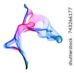 abstract dancer  woman... | Shutterstock . vector #743266177