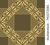 seamless texture ornament.... | Shutterstock .eps vector #743272081