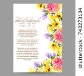 vintage delicate invitation... | Shutterstock .eps vector #743273134