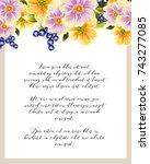 romantic invitation. wedding ... | Shutterstock .eps vector #743277085