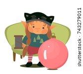 gnome vector illustration... | Shutterstock .eps vector #743279011