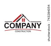 abstract home constructions logo | Shutterstock .eps vector #743284054