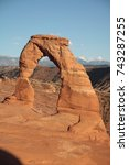 Small photo of delicate arch, arches NP, utah
