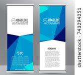 roll up business brochure flyer ...   Shutterstock .eps vector #743294251