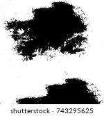 grunge black white. monochrome... | Shutterstock .eps vector #743295625