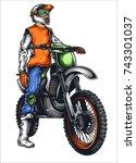 vector illustration of man on... | Shutterstock .eps vector #743301037