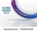 circle technology pattern on... | Shutterstock .eps vector #743301409