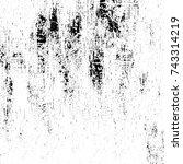 black and white grunge...   Shutterstock . vector #743314219
