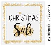 elegant christmas background... | Shutterstock .eps vector #743314441