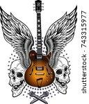 electric guitar   Shutterstock . vector #743315977