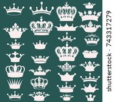 Big Collection Of Vector Crown...