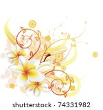 a very stylish vector floral... | Shutterstock .eps vector #74331982