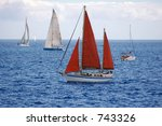 some sailboats | Shutterstock . vector #743326