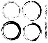 vector round frames. circles... | Shutterstock .eps vector #743327971