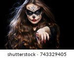 Beautiful Woman With Halloween...