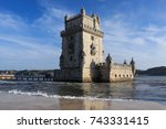 belem tower in portugal | Shutterstock . vector #743331415