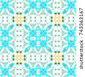 melting colorful pattern for... | Shutterstock . vector #743363167